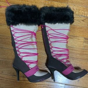 Baby phat heel boots